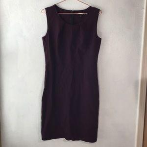Lafayette 148 plum virgin wool dress